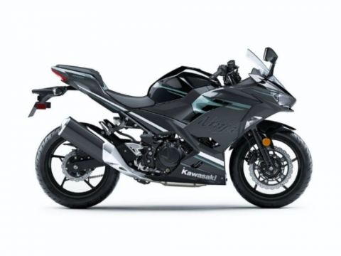 2020 Kawasaki Ninja® 400 ABS Spark Black/ Magnetic Dark Gray/ Phantom Blue
