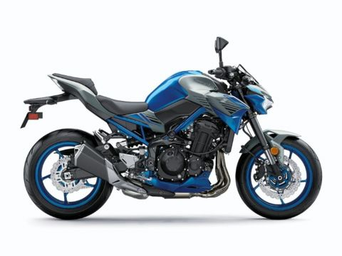 New 2020 Kawasaki Z900 ABS Candy Plasma Blue/Metallic Silver