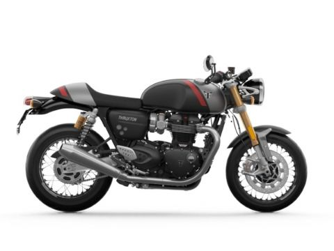 2020 Triumph Thruxton RS Matt Storm Grey and Silver Ice