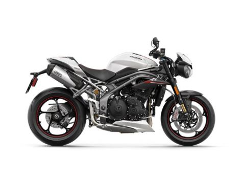 2019 Triumph Speed Triple RS Crystal White Metallic